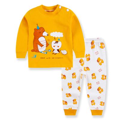 口袋虎男女童純棉內衣套裝2020年新款秋季打底衣套裝