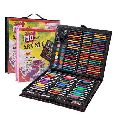 兒童150件套繪畫套裝水彩筆油畫棒蠟筆美術畫筆畫畫工具手工涂鴉文具用品玩具3-6-12歲