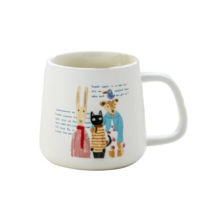 億嘉IJARL 創意陶瓷杯子情侶水杯咖啡杯馬克杯牛奶杯 貓國物語 family