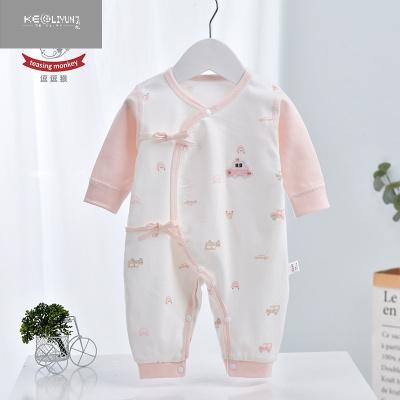 嬰兒無骨連體衣服薄款棉和尚服蝴蝶衣和服打底秋衣月子服 可莉允兒童家居服套裝