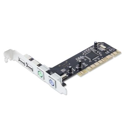 魔羯 MOGE MC1210 PCI轉PS2擴展卡 圓口PS/2 鍵盤鼠標 擴展卡 轉接卡 NEC芯片無USBD