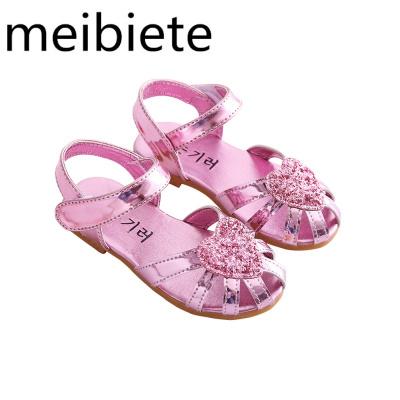 女童涼鞋夏季新款公主鞋中童包頭涼鞋小孩鞋兒童涼鞋沙灘鞋防滑