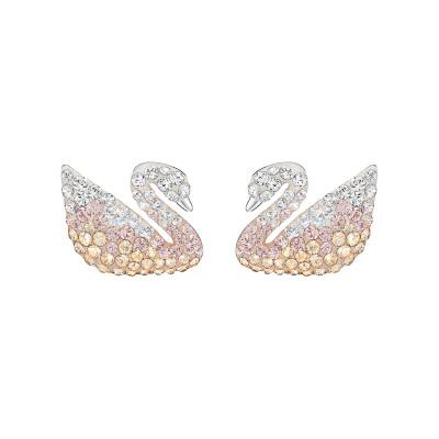 SWAROVSKI 施華洛世奇 人造水晶魅力漸變色天鵝珍珠女士耳釘5215037
