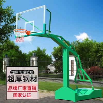 益動未來戶外標準移動籃球架加大加寬 加厚鋼化玻璃板 成人籃球架 凹箱籃球架 單只價格