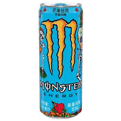 Monster 魔爪 芒果味风味饮料 维生素饮料 运动饮料 330ml*24罐 整箱装 可口可乐公司出品