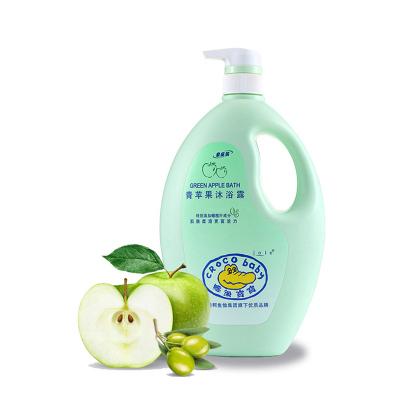 CROCO baby鱷魚寶寶 青蘋果沐浴露1.1kg母嬰幼兒童成人全家型大瓶裝 清爽滋潤