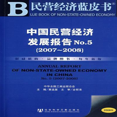 民营经济蓝皮书 中国民营经济发展报告 No 5(2007-2008) 无盘社