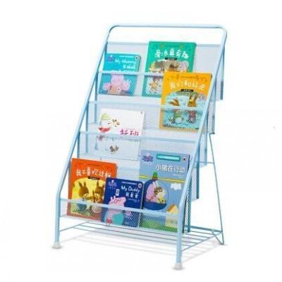森美人鐵藝兒童書架繪本架收納架書報架簡易幼兒園寶寶小孩落地收納