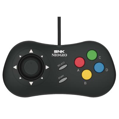 黑色SNK type c 格斗手柄 NEOGEO mini pad 適配SNK NEOGEO游戲控制器