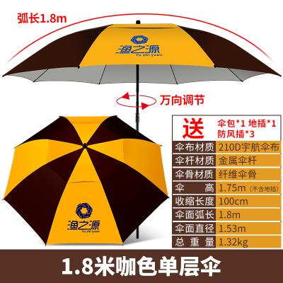 漁之源釣魚傘2.2米萬向防雨折疊釣傘2.4米地插釣魚雨傘垂釣遮陽傘