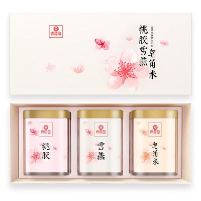青源堂 桃膠雪燕皂角米精選組合500克禮盒
