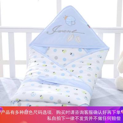 新生儿包被初生婴儿抱被春秋冬季加厚裹布单棉的宝宝用品小被子