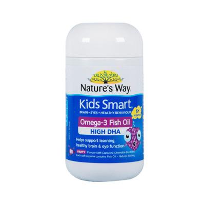 澳萃维/佳思敏进口 Nature's Way 儿童Omega-3鱼油维生素 50粒/瓶装(水果味 )3岁以上
