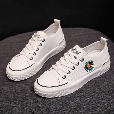 專成(ZHUANCHENG)小白鞋子女2020年新款秋季透氣時尚百搭小雛菊平底板鞋女士休閑鞋女鞋單鞋MX W13
