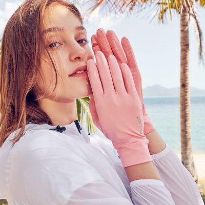 伯希和戶外防曬手套女夏季防紫外線UPF50+透氣耐磨防曬騎行清涼防滑手套可觸屏