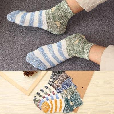 【5雙裝】欣詩蓉(xinshirong) 襪子男襪春夏季棉襪商務男襪中筒黑防臭男士潮襪212