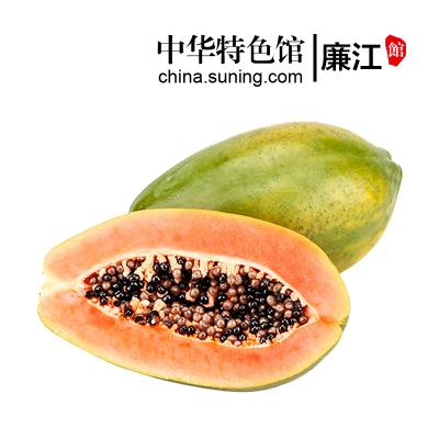 【中華特色】廉江館 冰糖牛奶紅心木瓜 青皮牛奶木瓜 2.5kg 熱帶時令水果 華南