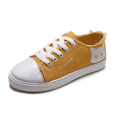 英伦班纳(ENLEN&BENNA)2020新款春秋季小白鞋帆布鞋平底系带单鞋布鞋女鞋【1.17-2.2不发货】