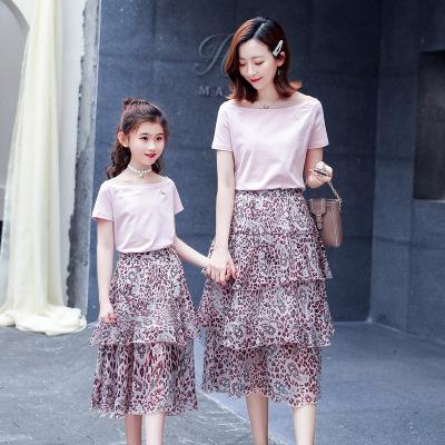 抹炫(MOXUAN)2019款亲子夏装新款潮一家三口洋气母子时尚母女装公主裙