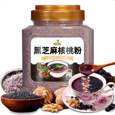 杯口留香黑芝麻核桃黑豆粉黑芝麻粉營養早餐熟五谷粉代餐粉500g罐裝