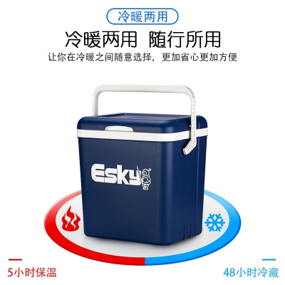 保温箱车载家用车用冰块便携式商用冷藏箱户外冰桶保冷保鲜箱闪电客 10L普通款(EPS材质)送:2冰板+4冰袋