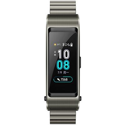 華為(HUAWEI)華為手環b5 時尚版 鈦金灰 智能手環 (藍牙耳機+智能手環+心率監測+彩屏+觸控+壓力監測+50防水+Android+IOS通用)華為運動手環 華為手環