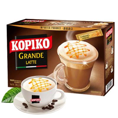(散裝盒裝隨機發)印尼進口咖啡 kopiko可比可拿鐵意式三合一咖啡粉速溶咖啡盒裝12包 辦公室咖啡沖飲