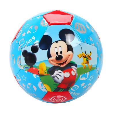 迪士尼(Disney)兒童足球米奇公主可愛形象3號PVC車縫耐磨足球送氣筒氣針網兜DAB20242