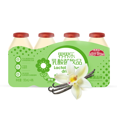 JelleyBrown/界界乐 儿童乳酸菌饮料原味95ml*4瓶