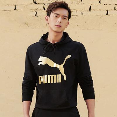 彪馬 PUMA Classics Logo Hoody TR 2020李現同款男子連帽衛衣套頭衫 595907