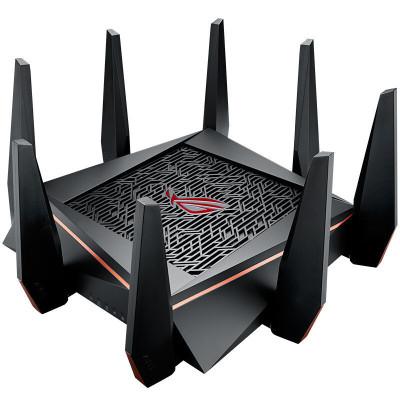 【送網易UU加速|三頻5300M】華碩(ASUS)GT-AC5300 ROG游戲路由全千兆低輻射/無線高速路由