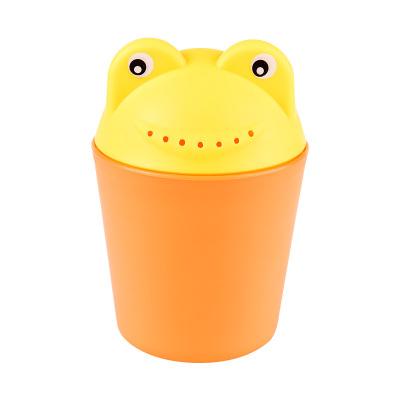 馬博士寶寶洗頭杯花灑水勺嬰兒洗澡沐浴勺兒童加厚pp材質洗發杯 橙+黃