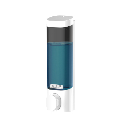 【規格:300ml 6.2*7*22 單位:cm 白色單格 】皂液器 洗手間免打孔皂液器 酒店賓館壁掛式單頭洗手液瓶