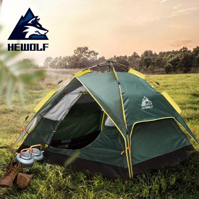 公狼液壓全自動帳篷3-4人加厚防雨暴雨速開戶外露營野外野營 品牌授權正品保證