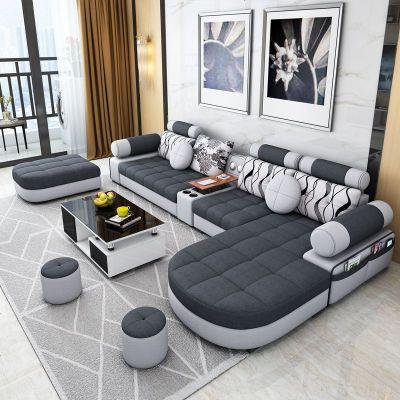 HOTBEE布艺沙发组合简约现代可拆洗小户型三人乳胶沙发客厅整装北欧沙发