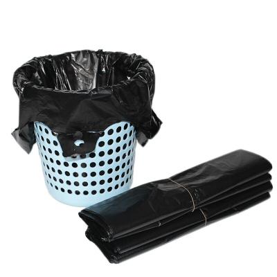 加厚手提式塑料袋 黑色背心袋 垃圾袋 寬300mm 100個