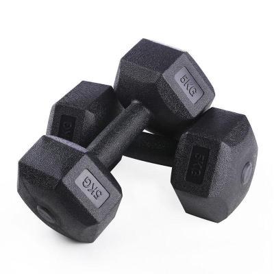 六角啞鈴男士健身女士包膠手鈴家用固定啞鈴5公斤10KG20千克 莎丞