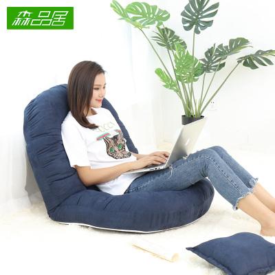 唐臻懶人沙發榻榻米可折疊單人臥室陽臺飄窗小沙發可愛床上女生靠背椅