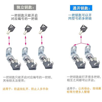 法耐(FANAI)电器箱转舌锁平面圆形弹子锁保管箱应急锁梅花钥匙信箱锁文件柜锁