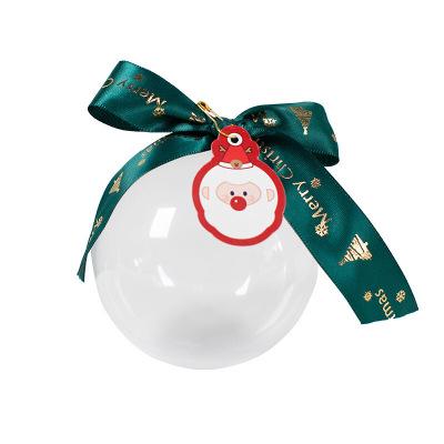 圣誕禮盒透明蘋果盒包裝首飾盒口紅盒夢幻城堡盒戒指盒禮品盒 生日包裝盒情侶商務禮盒ins風禮盒 12cmPVC球