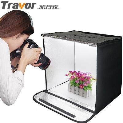 旅行家LED小型摄影棚40cm 拍照柔光箱摄影灯箱 可调光免布光产品拍摄便携式摄影棚
