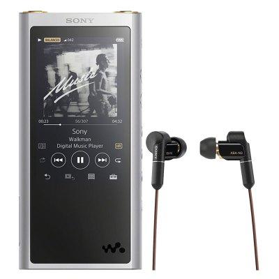 索尼(SONY)NW-ZX300A MP3音樂播放器HIFI無損隨身聽 ZX300A+N3BP銀色套裝 機身內存16G