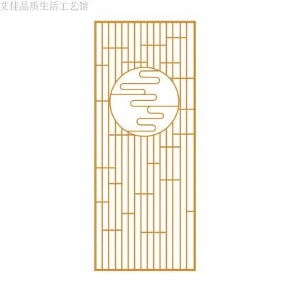 北歐簡約現代屏風隔斷客廳進玄關鐵藝金色輕奢屏風裝飾隔斷定制 金色 整裝