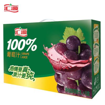 汇源 100%葡萄果汁1L*6盒 便携装果汁饮料
