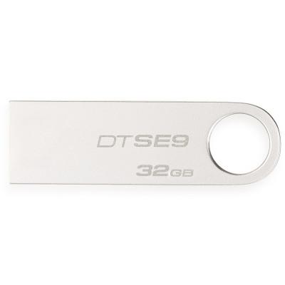 蘇寧自營金士頓(Kingston)DT SE9H 32GB 金屬U盤 銀色亮薄