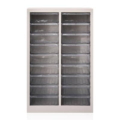 全簡家具零件柜票據柜A4紙文件柜螺絲盒電子元件資料收納柜18抽透明不帶門870*543*340