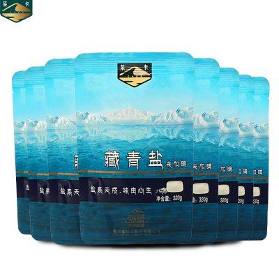 茶卡藏青鹽8包*320g無碘鹽不加抗結劑茶卡湖鹽自然結晶無任何添加自營食用鹽湖鹽未加碘