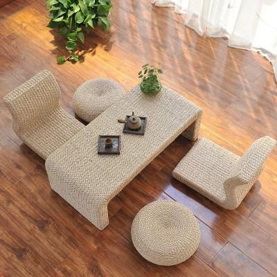 顾致实木日式榻榻米茶几组合欧式飘窗桌子炕桌地台桌窗台阳台电脑桌