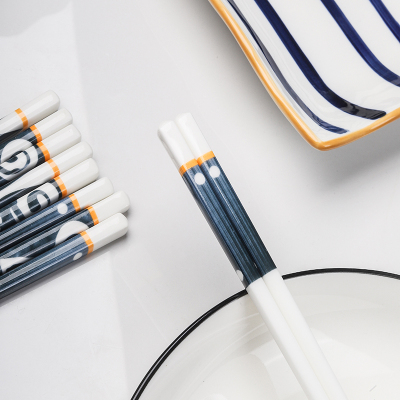 陶瓷筷子網紅骨質瓷耐高溫防霉筷家用高檔輕奢筷一人一筷公筷日式風10雙