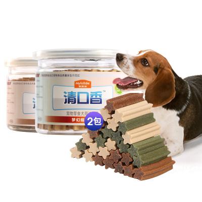 麥富迪狗零食潔齒骨清口香夢幻混合裝220g*2包狗狗磨牙棒泰迪幼犬小型犬磨牙健齒